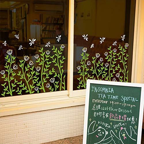 Flower Baseboard Sticker Shop Glastür Fensteraufkleber Cafe Dekoration Selbstklebender Wandaufkleber