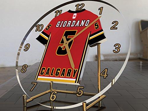 NHL National Hockey League–Western Konferenz–Pacific Division Trikot-Uhren–Jeder Name, beliebige, jedes Team, kostenlose Personalisierung. Calgary Flames