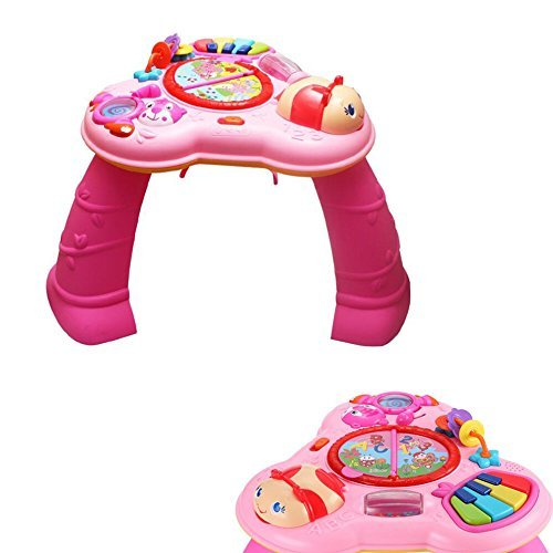Jolie Spieltisch mit Soundeffekten mit Piano und Rasseln (pink)