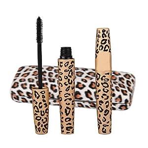 Kit 2 Mascara de Pestañas Rimel en Negro X6 Volumen Envase Leopardo