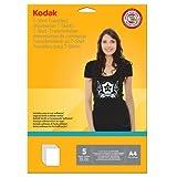 Kodak - Papel de transferencia para camisetas oscuras (A4, hoja de 5)