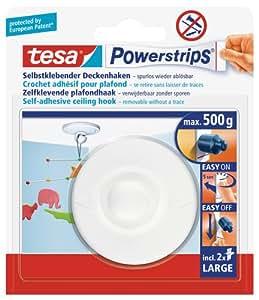 Tesa 58029 Powerstrips Crochets de plafond Blanc (Import Allemagne)