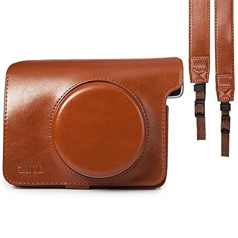 [Fujifilm Instax Wide 300 Kamera Tasche]--CAIUL Umfassenden Schutz Kameratasche mit Weichem PU Leder Material [Immer Bereit Design]