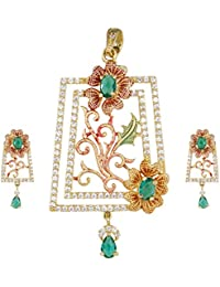The Plum Fashion Gold Alloy Pendant Set For Women (Pf028)