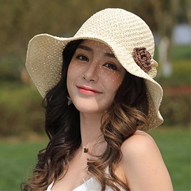 YISANLING Il cappuccio donna pieghevole summer getaways pieghevole donna  cappello di paglia visor spiaggia cap Fisherman s Cappuccio... Parent 197451 867757e8e465