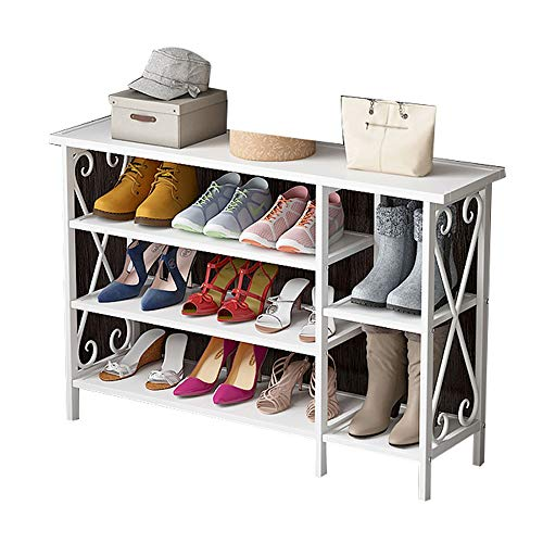 Dore Home Einfaches Eisen Schuhregal Hauseingangsecke Schuhregal Staubdicht Und Atmungsaktiv Kann Stiefel Mit Hohen Absätzen Weiß Setzen