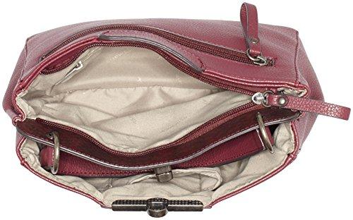 Tamaris Damen Lenita Handbag Henkeltaschen, 26x9x30 cm Rot (vino comb 631)