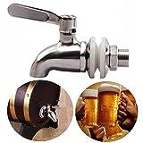 SODIAL Grifo llave de acero inoxidable Grifo de cerveza de barril para casa fermentador de cerveza Dispensador de jugo cerveza de barril vino Barrilete de nevera de bebida