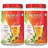 #10: Incredio ReFresh Tea with Garcinia, Green Tea & Green Coffee Beans , 0.2 kg Pack of 2 Honey lemon