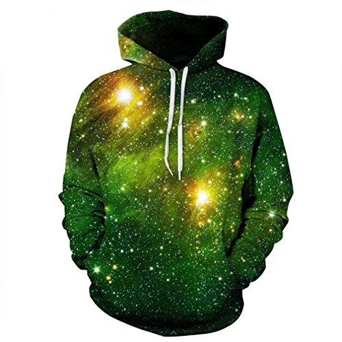 Caladele Space Galaxy 3D-Sweatshirts Damen Herren Hoodies Sweatshirt Drucken Sterne Nebel Winter Lose Hoody S