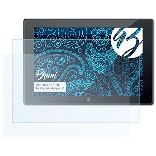 Bruni Schutzfolie für Odys Wintab 9 Plus 3G Folie, glasklare Bildschirmschutzfolie (2X)