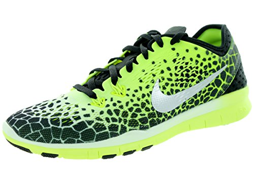 Nike - Wmns Nke Free 5.0 Tr Fit 5 Prt - , homme, multicolore (black/mtllc slvr-pnk pw-white), taille 36 Blanc