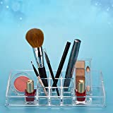 #2: Bulfyss Premium Clear Acrylic 11 Sections Jewellery & Cosmetic Storage Display Boxes Double Layer Beauty Vanity Jewellery Clear Acrylic Make Up Cosmetic display Stand and organizer rack