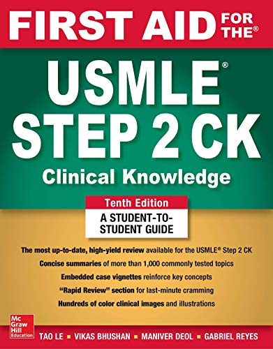 First Aid for the USMLE Step 2 CK, Tenth Edition por Vikas Bhushan