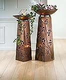 Schalenständer Ginkgo Kupfer/Patina grün, bestehend aus Ständer + Schale 102cm