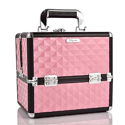 Joligrace Makeup Organiser Box Cosmetic Case Storage Vanity Box for Makeup Beginner or Daily Use, Medium Size: 25 x 18 x 23(cm), Baby