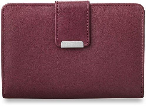 praktisches Damen - Portemonnaie Leder - Geldbörse (lila)