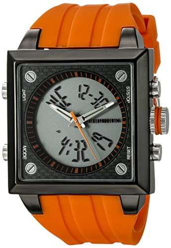 Cepheus Men's Quartz Watch with Orange Dial Analogue - Digital Display and Orange Silicone Strap CP900-690C