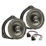 tomzz Audio ® 4039-000 Lautsprecher Einbau-Set für Opel Corsa B C Tigra Vivaro Fronttür 165mm