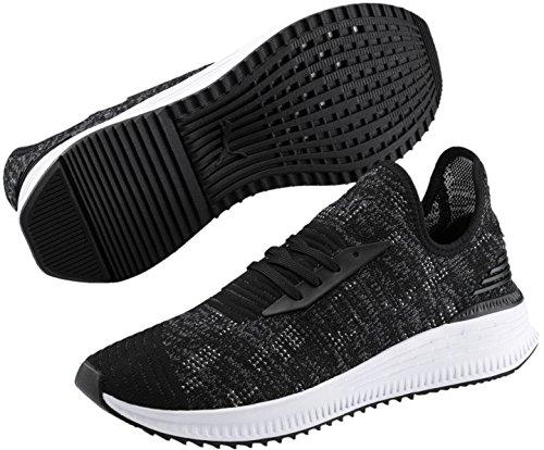 PUMA Men s Avid Evoknit Sneaker  Black-Iron Gate-Gray Violet  8 5 M US