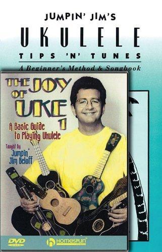 Preisvergleich Produktbild Jumpin' Jim's Ukulele Tips 'n' Tunes: A Beginner's Method & Songbook [With DVD] by Jim Beloff (1-Jun-2010) Paperback