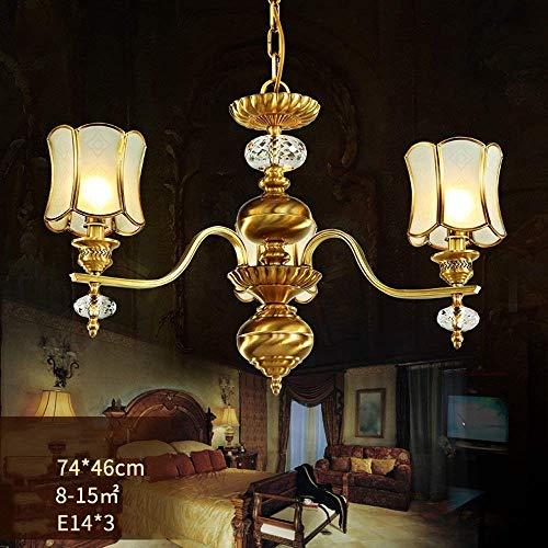 MARK im europäischen Stil, Kristall Kronleuchter Bronze grüne Lampen und Laternen, einfache und Moderne Wohnzimmer Lichter American Restaurant der Beleuchtung hat ++,3 Köpfe -