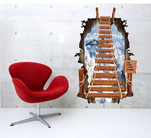 YUCH Échelle Mur Salle De Bains Plan Ciel Stickers Décoratifs