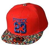 THENICE bambino Hip Hop 23 Cappello Unisex Baseball Cap (rosso)
