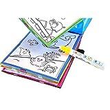 Internet_Juguetes Juguetes educativos,Internet Libro Mágico del Dibujo del Agua para Colorear Doodle Magic Pen Animales Pintura Lona Animal del Agua De La Escritura del Patrón (como se Muestra)