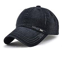 03a7d95051074 LAOWWO Unisex Hombres Mujeres Gorra de Béisbol Lavado Ajustable Denim  Classic Design Sport Leisure Cap Hat