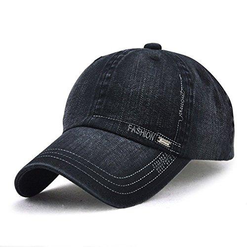 Sport-sandwich-cap (LAOWWO Waschen Denim Baseball Cap Classic Design Freizeit Lässig Mütze Einstellbar Draussen Sport und Reisen Sandwich Peak Cap Herren)
