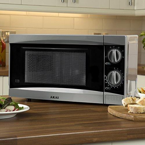 Akai A24002 Manual Microwave, 6 Power Levels, 800 W, Silver