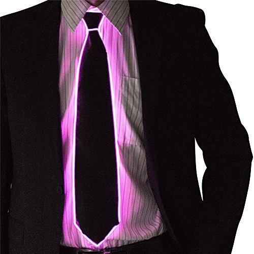 en Kostüm Zubehör Glühende EL Tie LED Krawatte leuchten Partei DJ Bar Club Dekoration (Sport Maskottchen Halloween-kostüme)