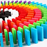 Trinkets & More Wooden 10 Colours Dominos Game Set (Multicolour) - Pack of 100