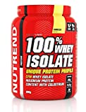 Whey Protein Powder 100% Isolate by Nutrend Flavor Banana 900g isolate (WPI) amino acids (BCAA), low sugar,...