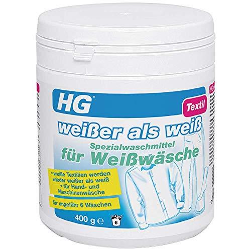 HG Weißer als Weiß Spezialwaschmittel für Weißwäsche 500 gr - ist ein Waschmittel für weiße Wäsche, das eine Verfärbung Ihrer Weißwäsche verhindert oder rückgängig macht