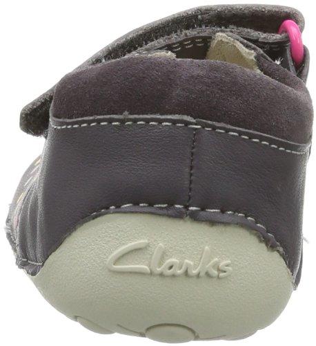 Clarks  Ida Dotty, Chaussons premier âge bébé Argent - Silber (Anthracite Lea)