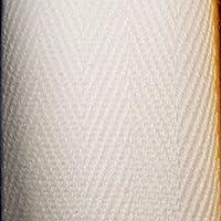 Kraftz®–Cinta de algodón de 25mm x 50m, en rollo para empavesado, costura, ribetes, espiguilla, tejido de sarga, manualidades, vestidos y delantales.