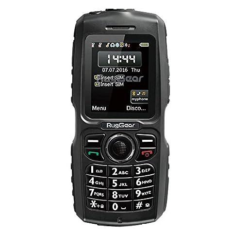 RugGear® waterproof phone - Mariner RG100 Phone - Unlocked rugged phone (Black)