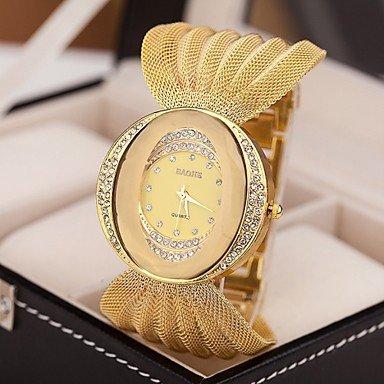 Belles montres, 2015 nouvelles dames célèbres montres de marque de strass bracelet en or mode de luxe quartz femmes ( Couleur : Doré , Taille : Pour femme-Taille Unique