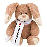 Geschenke mit Namen Plüsch-Hase Pauli: Ich hab Dich lieb, plüschig weich, ca. 18 cm groß