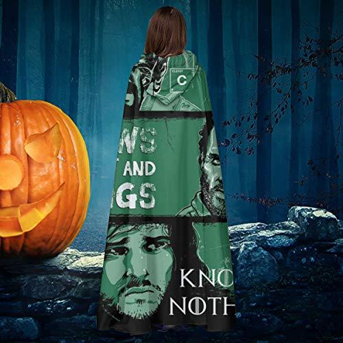 AISFGBJ Wissensregeln Two Jon Snow Heisenberg Rick Grimes Unisex Weihnachten Halloween Hexe Ritter Kapuzenmantel Vampir Umhang Umhang Cosplay (Rick Grimes Kostüm Für Erwachsene)