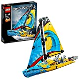 LEGO 42074 Technic Racing Yacht Toy, 2 in 1 Boat and Catamaran Model Building Set for 8-14 Years Old Boys and Girls