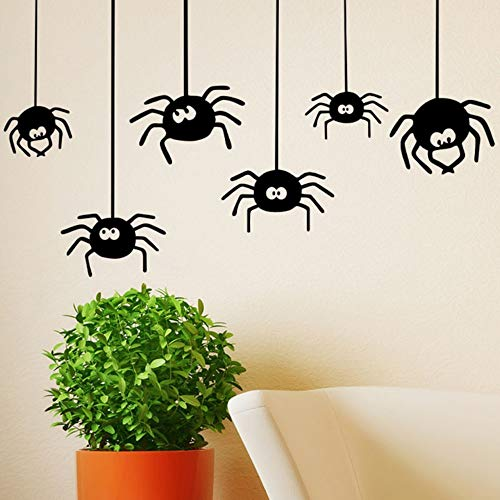 Halloween Spider Wall Stickers Party Decorative Stickers Diy Wall Art Decal Decoration Oom Decoration Party Wedding Decor