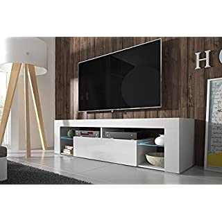 Excellent Best Gallery Of Hestia U Tv Lowboard Tv Schrank Cm Wei Matt Wei  Hochglanz With Tv Hngeschrank With Tv Schrank Wei Matt With Kche Matt Wei  With Tv ...