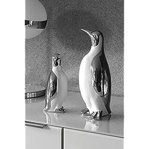 GILDE Pinguin Royal, Silber/weiß, groß