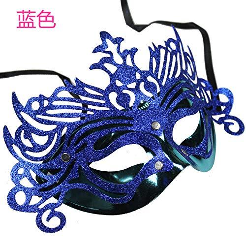 Für Kostüm Erwachsene Lustige Männliche - JRKJ Kronprinzessin Maske Gruselige & Lustige Masken - Perfekt Für Karneval & Halloween - Erwachsenen Kostüm Unisex Für Alle , ClownMännliche Maske, Weibliche Maske @ Blau