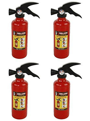 Heiße Feuerwehr Kostüm - Wasserpistolen 4er Set FEUERLÖSCHER
