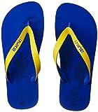 Duke Men's Navy and Yellow Flip Flops Thong Sandals - 7 UK/India (41 EU)