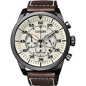 Citizen Reloj Cronógrafo para Hombre de Cuarzo con Correa en Cuero CA4215-04W